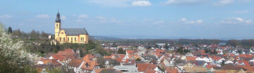 Oberrhein: Blick auf Nackenheim - Foto: Stefan Frerichs / RheinWanderer.de