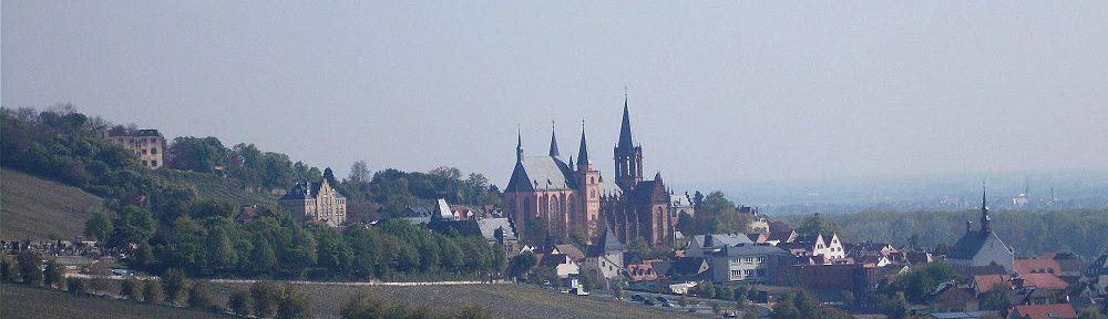 Oberrhein: Blick auf Oppenheim - Foto: Stefan Frerichs / RheinWanderer.de
