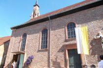 Oberrhein: Sankt-Remigius-Kirche in Osthofen - Foto: Stefan Frerichs / RheinWanderer.de