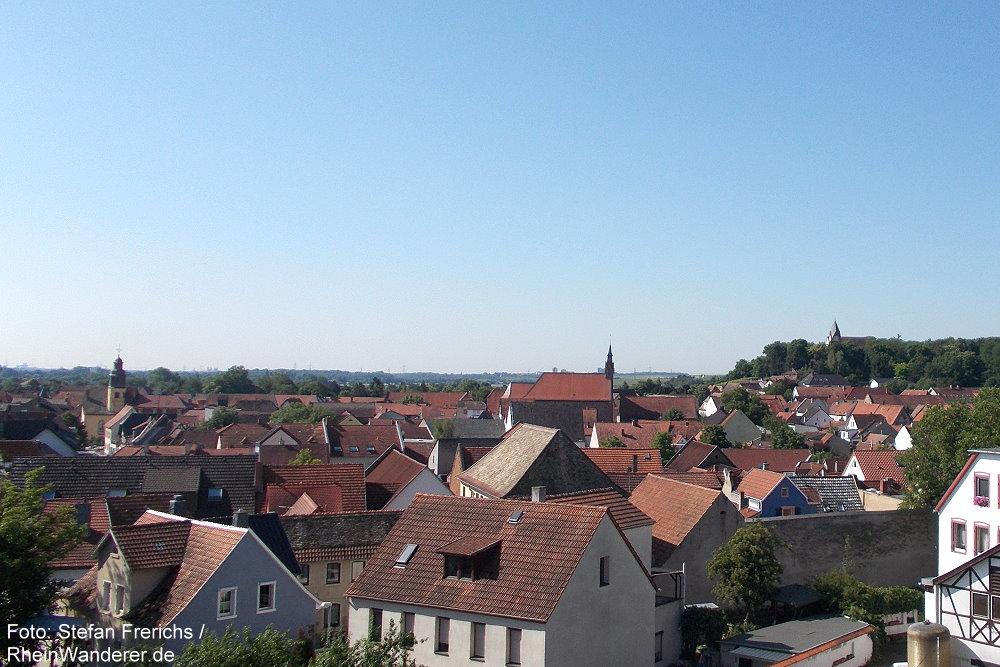 Oberrhein: Blick auf Osthofen - Foto: Stefan Frerichs / RheinWanderer.de