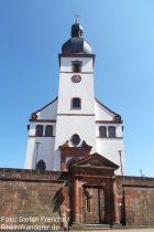 Pfälzerwald: Sankt-Laurentius-Kirche in Dahn - Foto: Stefan Frerichs / RheinWanderer.de