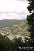Mittelrhein: Blick vom Binger Wald auf Assmannshausen - Foto: Stefan Frerichs / RheinWanderer.de