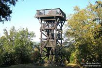 Mittelrhein: Sieben-Burgen-Blick-Turm im Binger Wald - Foto: Stefan Frerichs / RheinWanderer.de