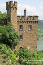 Mittelrhein: Südturm von Burg Sooneck bei Niederheimbach - Foto: Stefan Frerichs / RheinWanderer.de