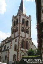 Mittelrhein: Sankt-Peter-Kirche in Bacharach - Foto: Stefan Frerichs / RheinWanderer.de