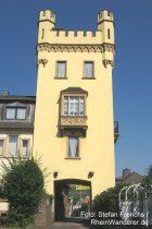 Mittelrhein: Villa-Nova-Turm in Oberwesel - Foto: Stefan Frerichs / RheinWanderer.de