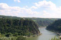 Mittelrhein: Aussicht vom Loreleyblick rheinaufwärts - Foto: Stefan Frerichs / RheinWanderer.de