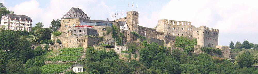 Mittelrhein: Burg Rheinfels bei Sankt Goar - Foto: Stefan Frerichs / RheinWanderer.de
