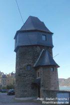 Mittelrhein: Hexenturm von Sankt Goar - Foto: Stefan Frerichs / RheinWanderer.de