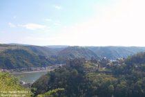 Mittelrhein: Blick auf Burg Rheinfels - Foto: Stefan Frerichs / RheinWanderer.de