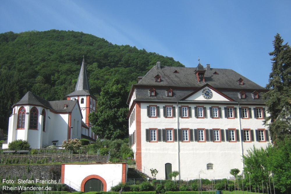 Mittelrhein: Frühere Probstei von Hirzenach - Foto: Stefan Frerichs / RheinWanderer.de