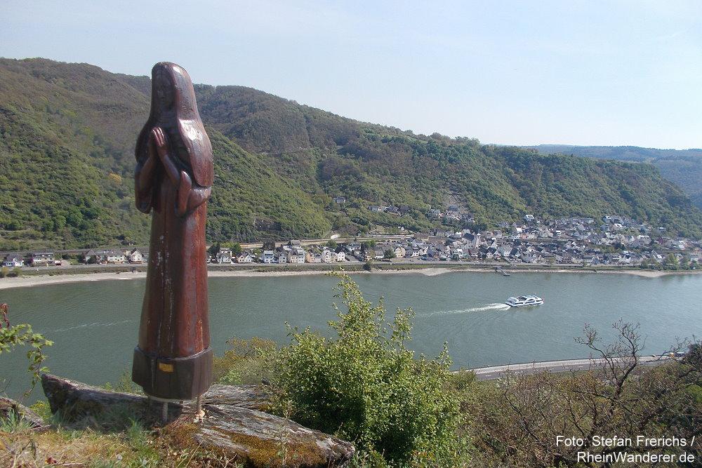 Mittelrhein: Betende Nonne - Foto: Stefan Frerichs / RheinWanderer.de
