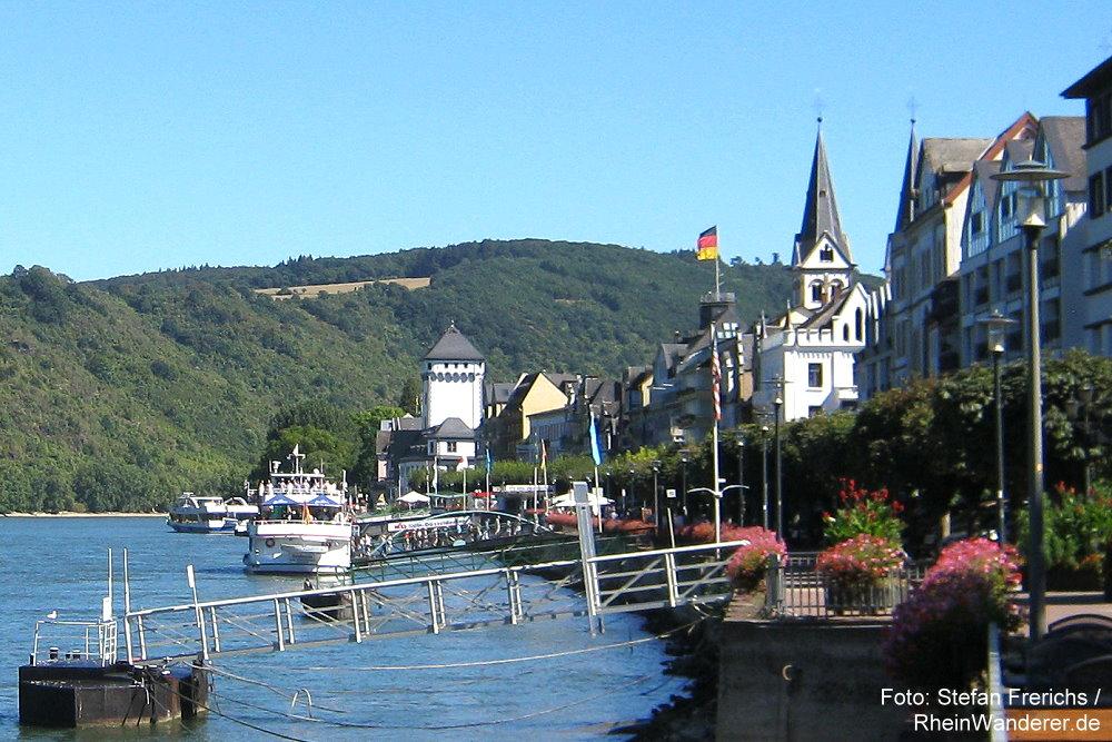 Mittelrhein: Rheinpromenade in Boppard - Foto: Stefan Frerichs / RheinWanderer.de
