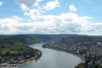Mittelrhein: Blick auf Boppard - Foto: Stefan Frerichs / RheinWanderer.de