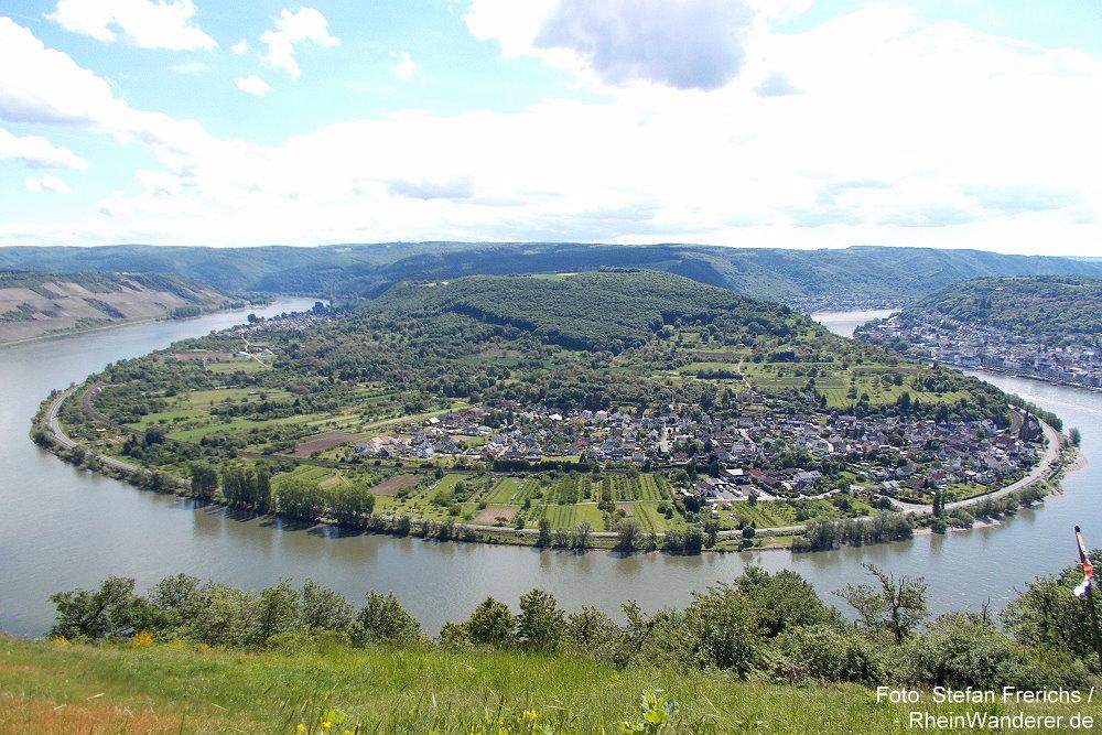 Mittelrhein: Blick vom Gedeonseck auf die Rheinschleife bei Boppard - Foto: Stefan Frerichs / RheinWanderer.de