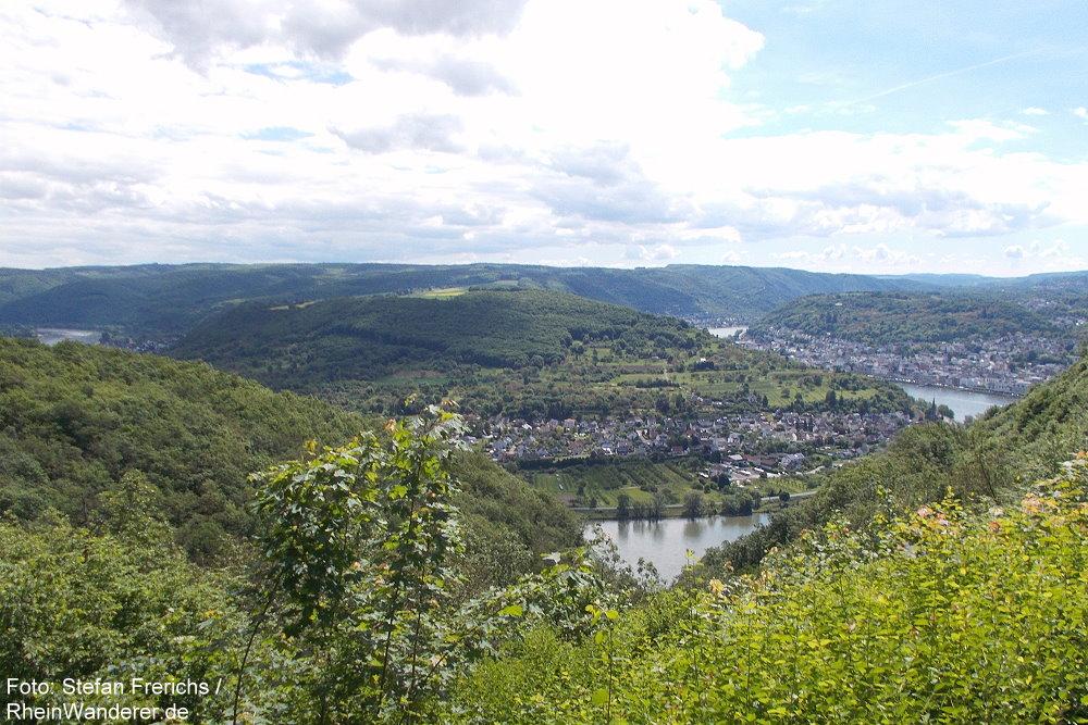 Mittelrhein: Vier-Seen-Blick bei Boppard - Foto: Stefan Frerichs / RheinWanderer.de