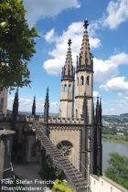 Mittelrhein: Schlosskapelle von Schloss Stolzenfels - Foto: Stefan Frerichs / RheinWanderer.de