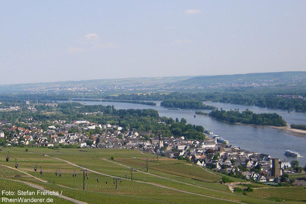 Mittelrhein: Blick auf Rüdesheim - Foto: Stefan Frerichs / RheinWanderer.de