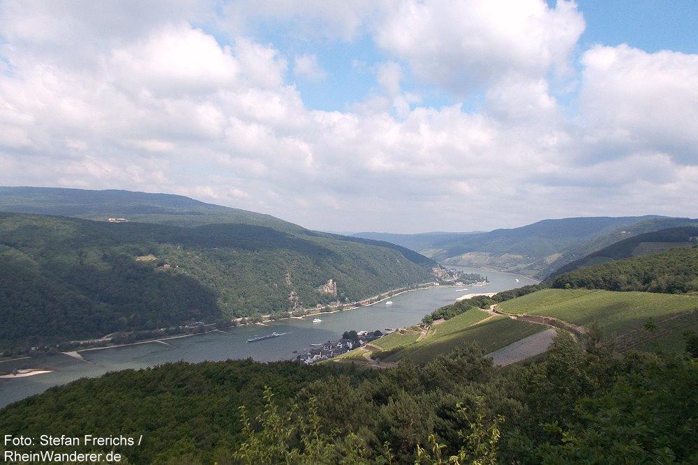 Mittelrhein: Blick vom Aussichtspunkt Rittersaal rheinabwärts - Foto: Stefan Frerichs / RheinWanderer.de