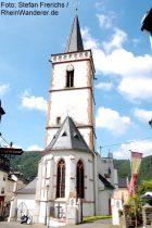 Mittelrhein: Heilig-Kreuz-Kirche in Assmannshausen - Foto: Stefan Frerichs / RheinWanderer.de
