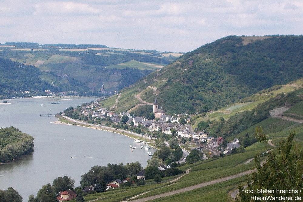 Mittelrhein: Blick auf Lorch - Foto: Stefan Frerichs / RheinWanderer.de