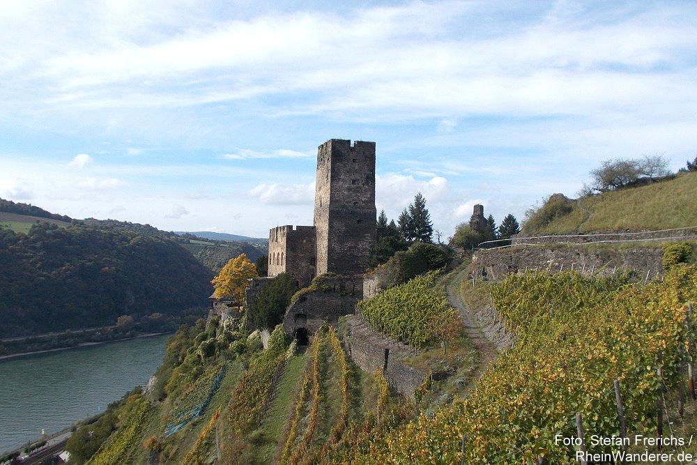 Mittelrhein: Burg Gutenfels bei Kaub - Foto: Stefan Frerichs / RheinWanderer.de