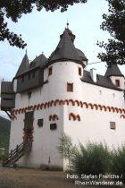 Mittelrhein: Eingang von Burg Pfalzgrafenstein bei Kaub - Foto: Stefan Frerichs / RheinWanderer.de