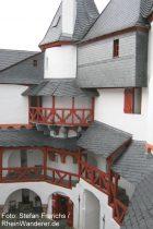 Mittelrhein: Innenhof von Burg Pfalzgrafenstein bei Kaub - Foto: Stefan Frerichs / RheinWanderer.de