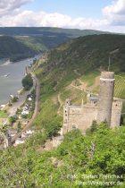 Mittelrhein: Blick auf Burg Maus bei Wellmich - Foto: Stefan Frerichs / RheinWanderer.de