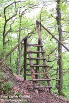 Mittelrhein: Zaun mit Trittleiter am Rheinsteig - Foto: Stefan Frerichs / RheinWanderer.de