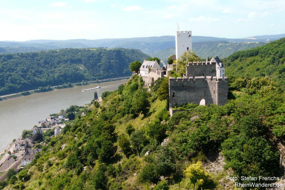 Mittelrhein: Burg Sterrenberg bei Kamp-Bornhofen - Foto: Stefan Frerichs / RheinWanderer.de