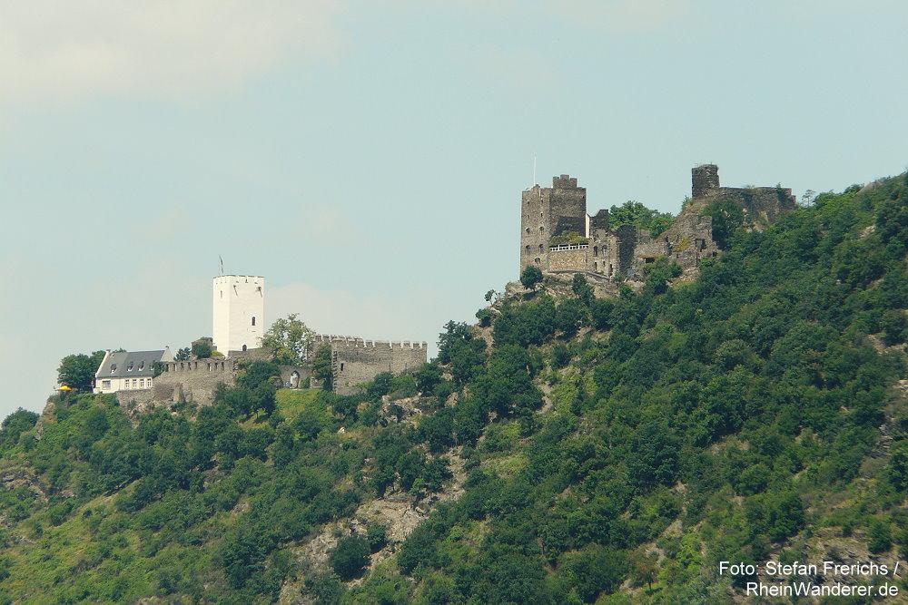 Mittelrhein: Die Burgen Sterrenberg und Liebenstein - Foto: Stefan Frerichs / RheinWanderer.de