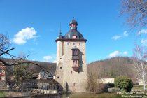 Inselrhein: Turm von Schloss Vollrads - Foto: Stefan Frerichs / RheinWanderer.de