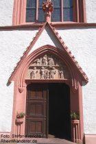 Inselrhein: Eingangsportal der Wallfahrtskirche von Kloster Marienthal - Foto: Stefan Frerichs / RheinWanderer.de