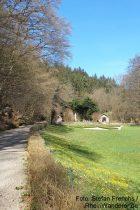 Inselrhein: Parkanlage von Kloster Marienthal - Foto: Stefan Frerichs / RheinWanderer.de