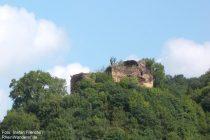 Mosel: Burgruine Trutzeltz bei Burg Eltz - Foto: Stefan Frerichs / RheinWanderer.de