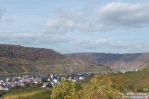 Mosel: Blick auf Bruttig-Fankel - Foto: Stefan Frerichs / RheinWanderer.de