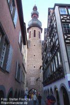 Mosel: Turm der Sankt-Martin-Kirche in Cochem - Foto: Stefan Frerichs / RheinWanderer.de