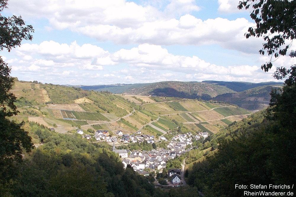 Mittelrhein: Blick vom Aussichtspunkt Pilz auf Oberdiebach - Foto: Stefan Frerichs / RheinWanderer.de