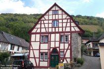 Mittelrhein: spätgotisches Fachwerkhaus in Oberdiebach - Foto: Stefan Frerichs / RheinWanderer.de