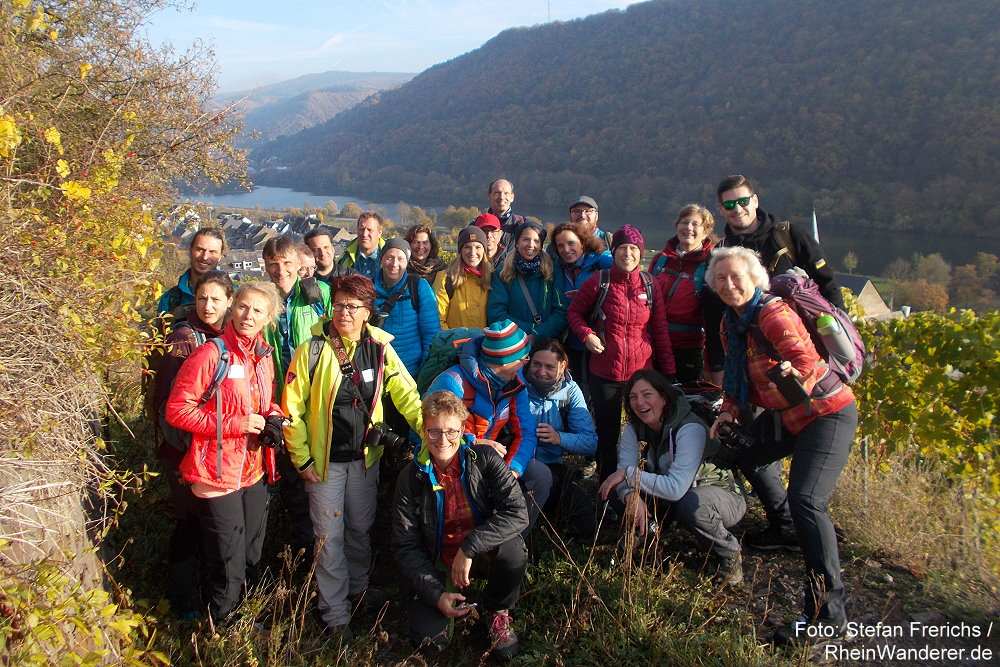 Mosel: Teilnehmer/innen am 4. Bloggerwandern Rheinland-Pfalz 2018 - Foto: Stefan Frerichs / RheinWanderer.de