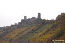 Mosel: Blick auf Burg Thurant - Foto: Stefan Frerichs / RheinWanderer.de