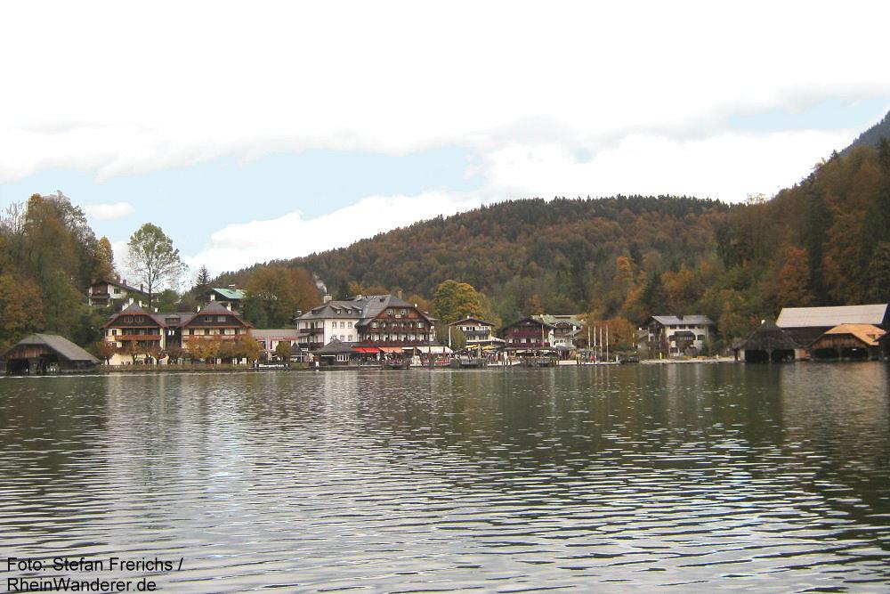 Berchtesgadener Land: Der Ort Königssee am Königssee - Foto: Stefan Frerichs / RheinWanderer.de