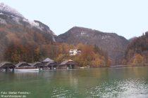 Berchtesgadener Land: Schiffshütten + Villa Beust in Königssee - Foto: Stefan Frerichs / RheinWanderer.de