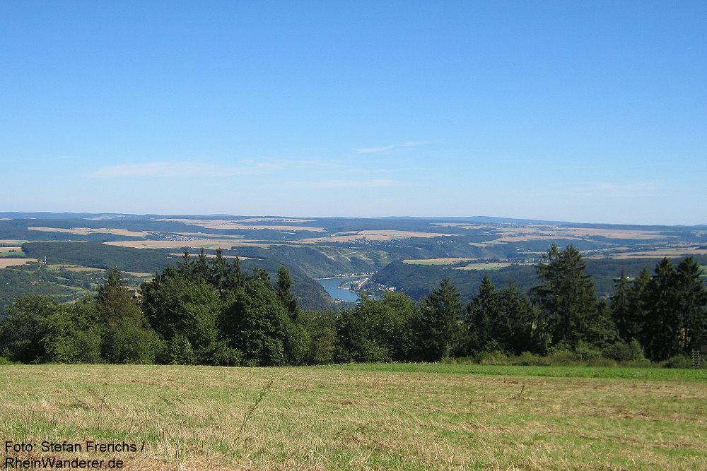 Mittelrhein: Rheingoldblick bei Fleckertshöhe - Foto: Stefan Frerichs / RheinWanderer.de