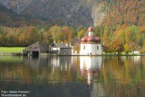 Berchtesgadener Land: Sankt-Bartholomäus-Kirche am Königssee - Foto: Stefan Frerichs / RheinWanderer.de