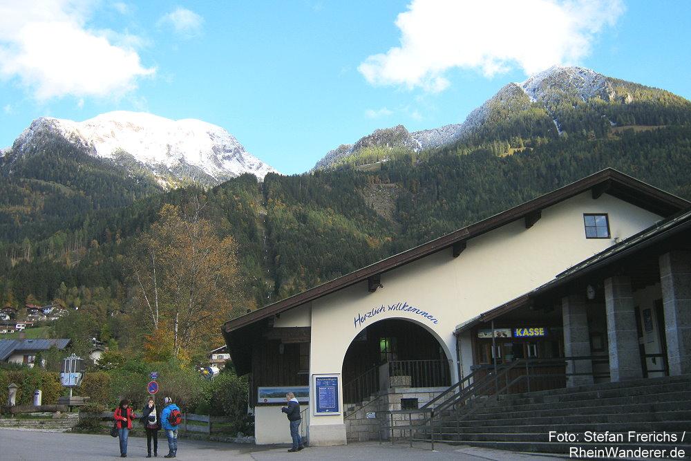 Berchtesgadener Land: Jennerbahn-Talstation bei Königssee - Foto: Stefan Frerichs / RheinWanderer.de