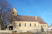 Pfälzerwald: Katholische Sankt-Lambertus-Kirche in Bockenheim an der Weinstraße - Foto: Stefan Frerichs / RheinWanderer.de