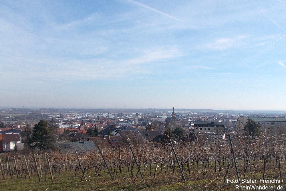 Pfälzerwald: Blick auf Grünstadt - Foto: Stefan Frerichs / RheinWanderer.de