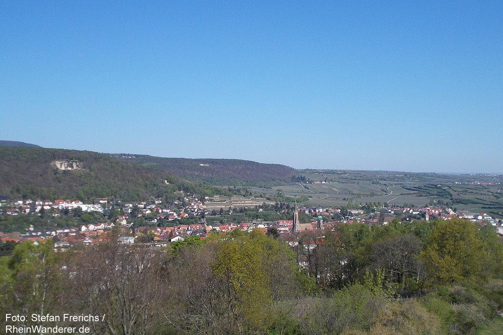 Pfälzerwald: Blick vom Flaggenturm auf Bad Dürkheim - Foto: Stefan Frerichs / RheinWanderer.de